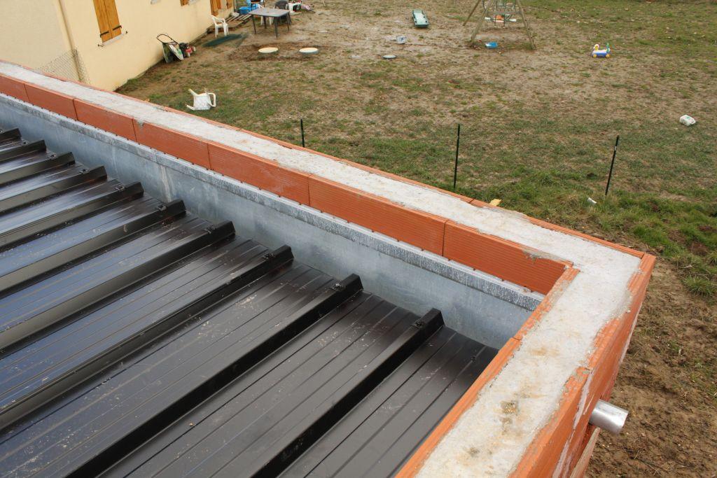 bac acier ou toit terrasse. Black Bedroom Furniture Sets. Home Design Ideas