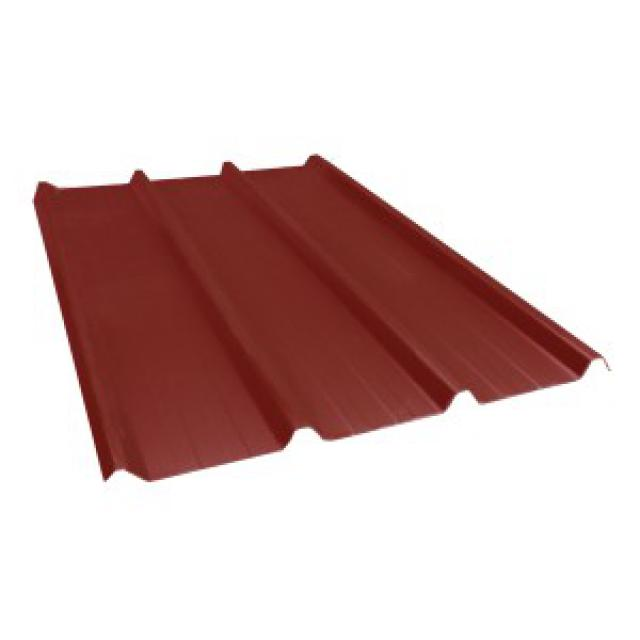 bac acier rouge brun