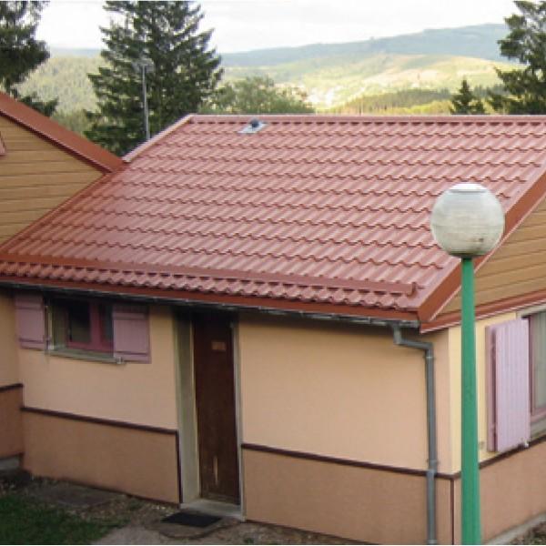 Tole imitation tuile pour maison for Maison toit tole