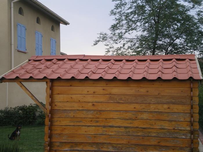 Tole toiture abri jardin - Cabane de jardin en tole ...