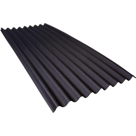 tole toiture noire
